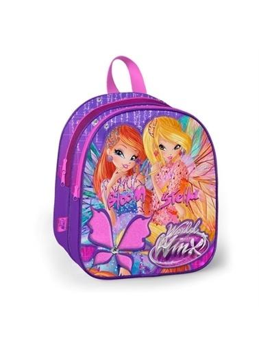Winx Club Winx Kız Çocuk Mor Anaokulu Çantası (İki Bölmeli) Renkli